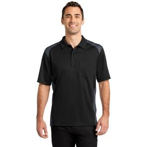 CornerStone® Select Snag-Proof Two Way Colorblock Pocket Polo Shirt